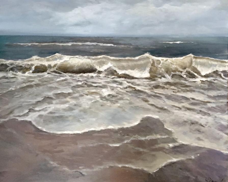 Eines von zahlreichen Meeres-Gemälden der Künstlerin Wiebke Daniel