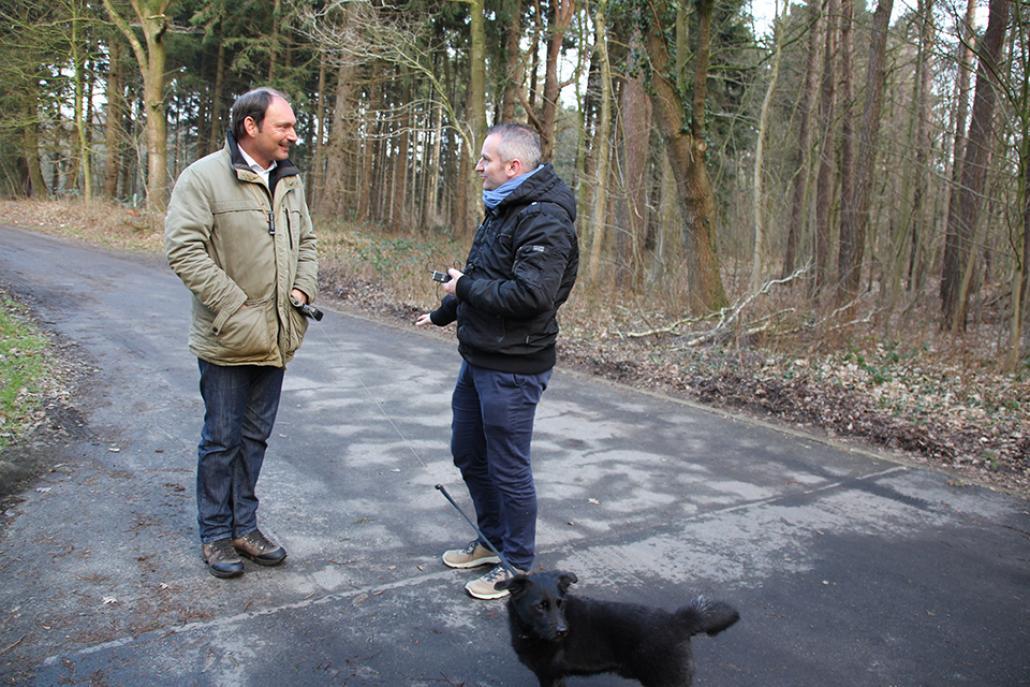 Rendsburgs Bürgermeister Pierre Gilgenast (li.) im Gespräch mit Markus Till