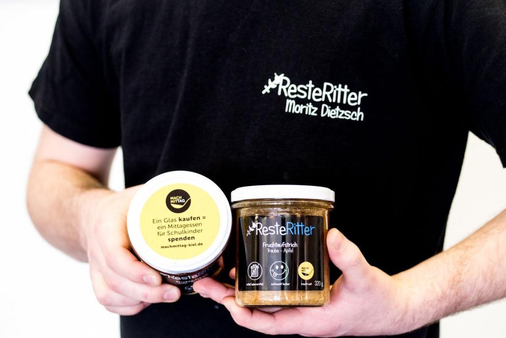"""Von dem fertigen Produkt profitiert auch das Projekt """"Mach Mittag"""", das sich gegen Kinderhunger in Kiel einsetzt"""