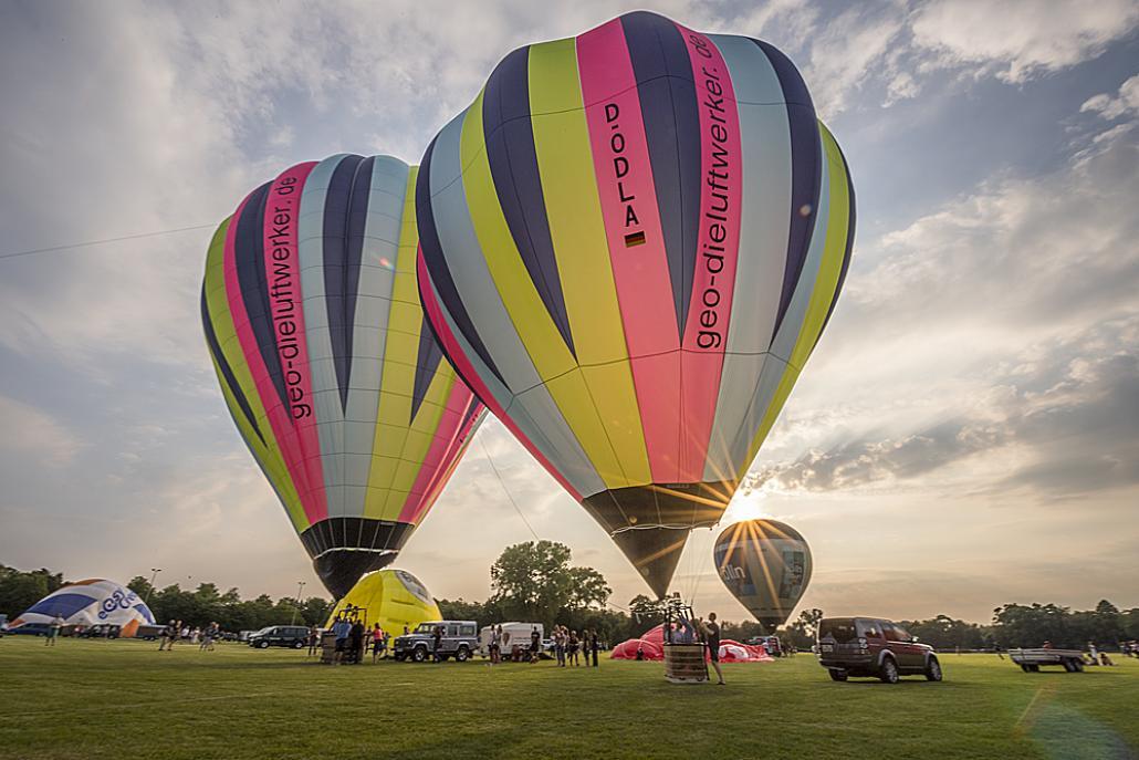 B wie Balloon Sail: Malerisch schön bei Tag und Nacht