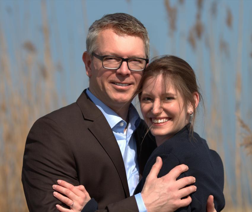 Miriam und André lernten sich 2011 auf der KiWo kennen...