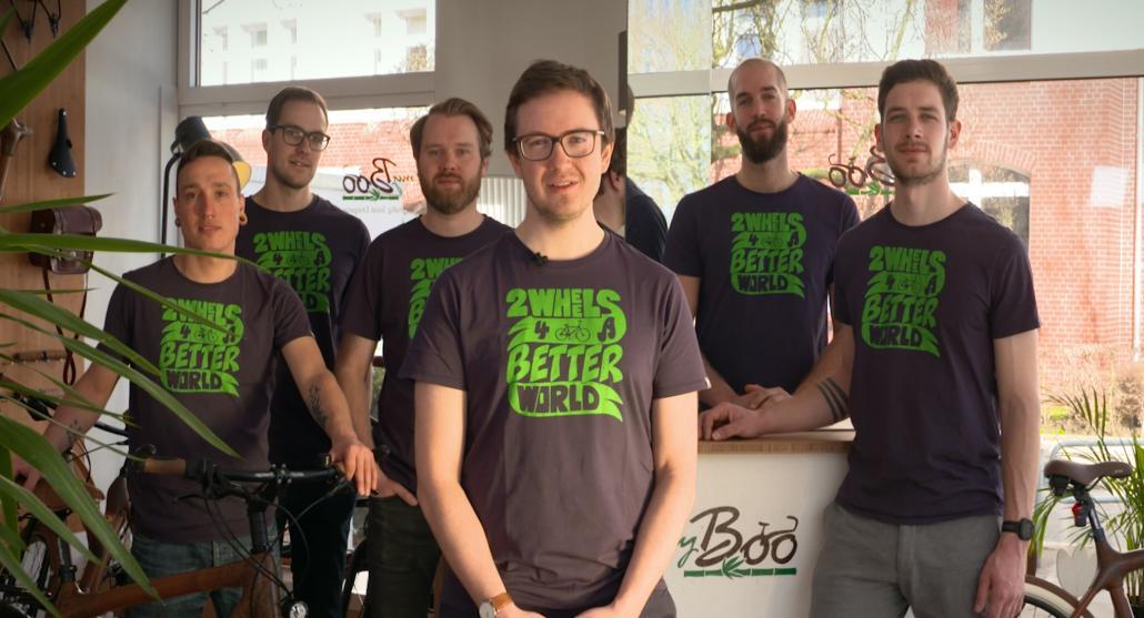 Das Herzensprojekt des myBoo-Teams ist es, mit Ihren Bambusrädern mehr Umweltbewusstsein auf die Kieler Straßen zu bringen