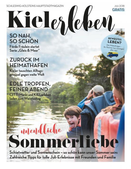 Das Titelblatt der Juli-Ausgabe der KIELerleben
