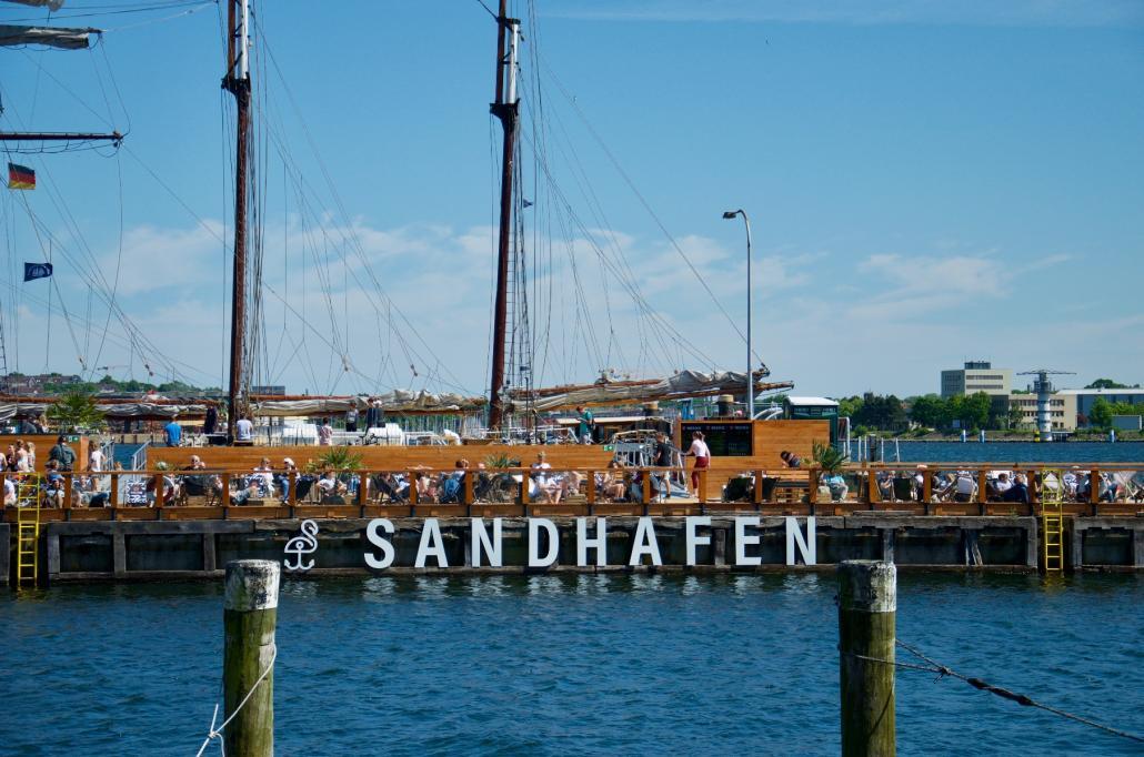 Der Sandhafen hat sich umgehend nach seiner Eröffnung zum beliebten Treffpunkt entwickelt
