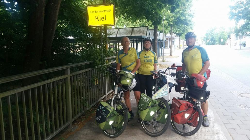 MUTig unterwegs: Am 30. Juni erreichte das Tandem-Team der zweiten Etappe bei strahlendem Sonnenschein unser schönes Kiel. Weiter geht es in den nächsten Tagen über Schwerin und Wismar bis nach Stralsund