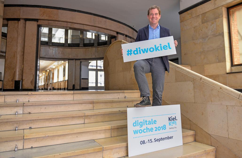 Oberbürgermeister Ulf Kämpfer freut sich auf die zweite Auflage der Digitalen Woche Kiel