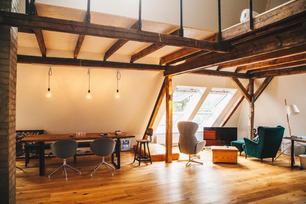 ... ist zugleich auch noch Büro und zweites Wohnzimmer in einem