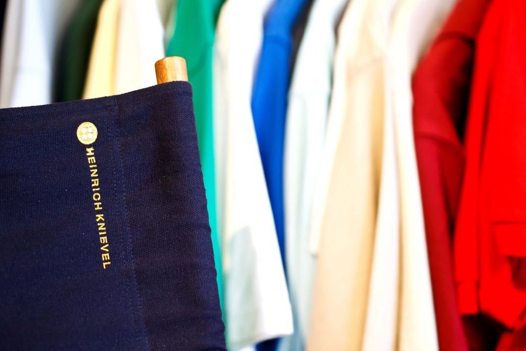 ... sondern auch über Textilien aller Art