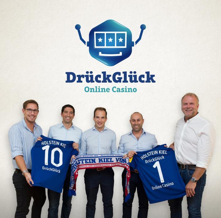DrückGlück ist offizieller Sponsor von Holstein Kiel