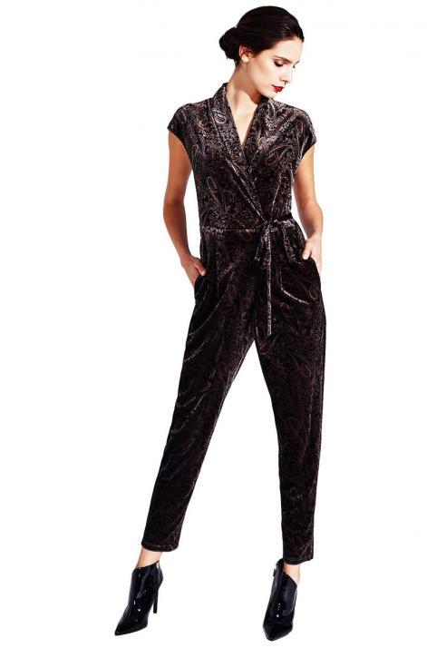 Der Jumpsuit von KALA Berlin mit Paisley-Muster ist auffällig und edel! Circa 140 Euro