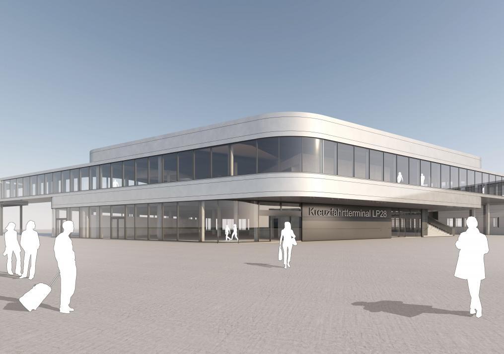 Mit dem Landstromanschluss und dem neuen Terminal am Ostseekai werden in Zukunft auch die Kreuzfahrerumweltfreundlich für hohe Gästezahlen sorgen