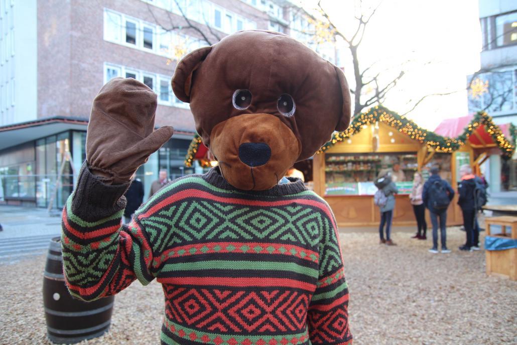 Teddy (aus dem Teddybärkrankenhaus Kiel): Ich nehme mir vor viel Honig zu essen und wenig Bienenstiche zu bekommen.