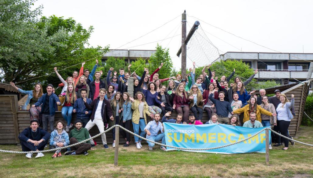 Die Teilnehmer des yooweedoo Summer Camps 2018 auf Sylt