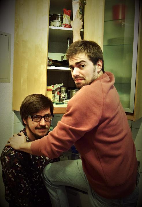 Lukas Diestel (li.) und Jonathan Löffelbein sind die besten schlechten Köche