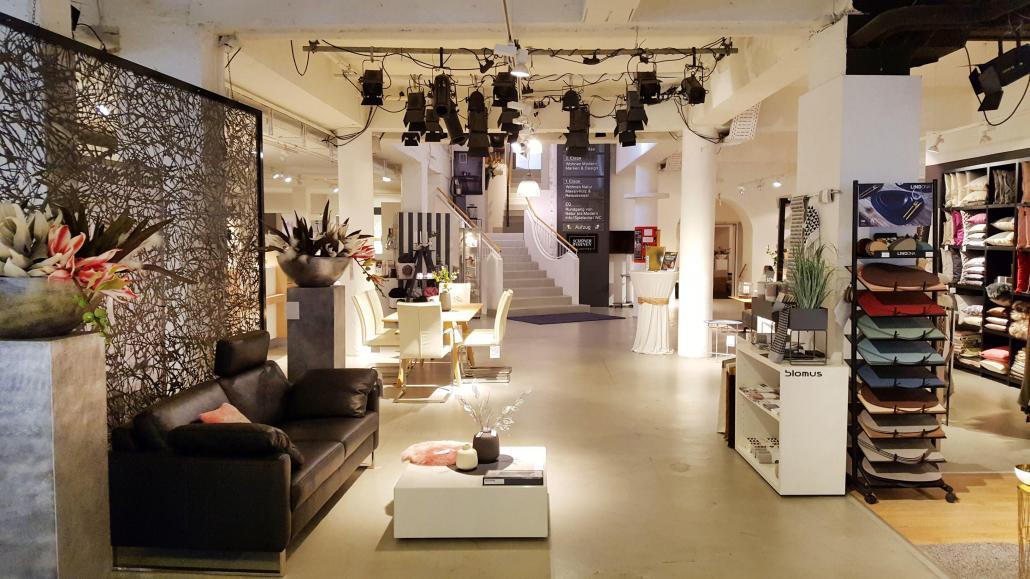 Die Boutique im Eingangsbereich präsentiert wunderbare Wohn-Accessoires