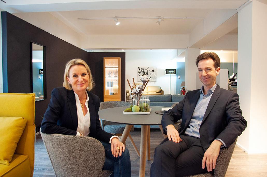 Petra und Dirk Willmann, Geschäftsführer von Dela Möbel