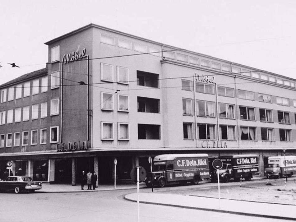 Schon in den 30er Jahren entwickelte sich Dela Möbel zu den größten Möbelhäusern der Region