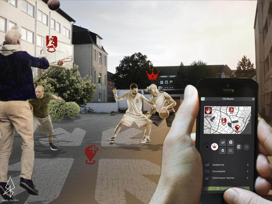 Mithilfe der App ist es möglich, neue Sportarten anunterschiedlichen Orten der Stadt zu entdecken