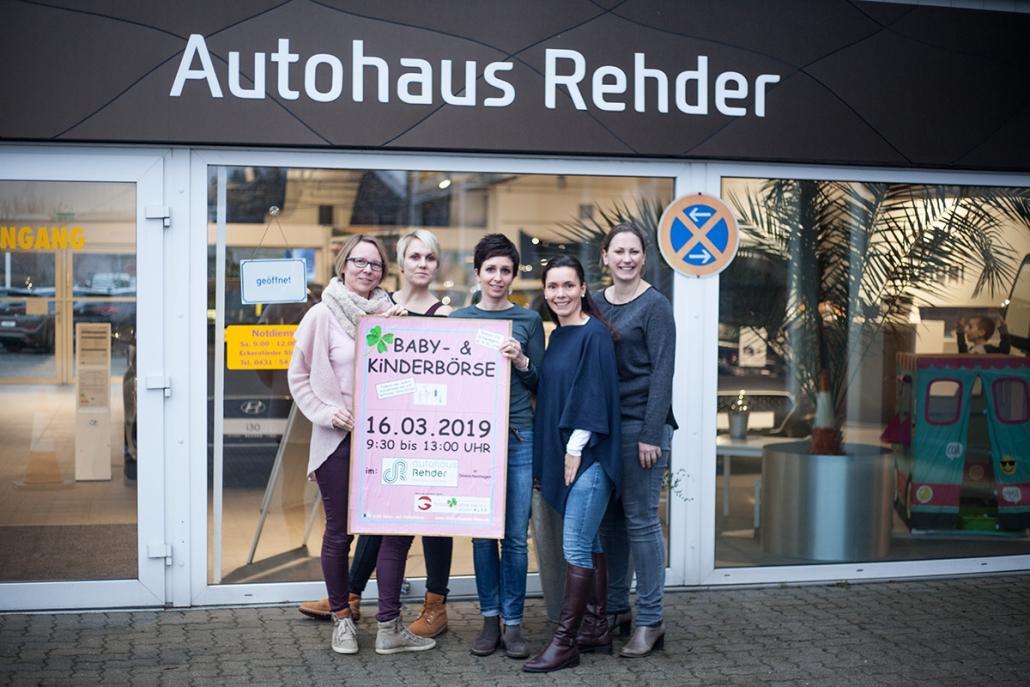 Die Köpfe hinter der KLEE-Börse (v. li.) Tina Ehlers, Ines Böhrensen, Irina Rehder, Kathleen Bläsche, Nadine Ganzenmüller (nicht auf dem Bild: Kathrin Muschalla, Janina Latendorf)