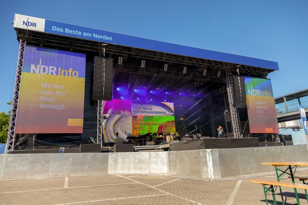 Die NDR Bühne wird dieses Jahr zur Kieler Woche nicht wie gewohnt aufgebaut werden