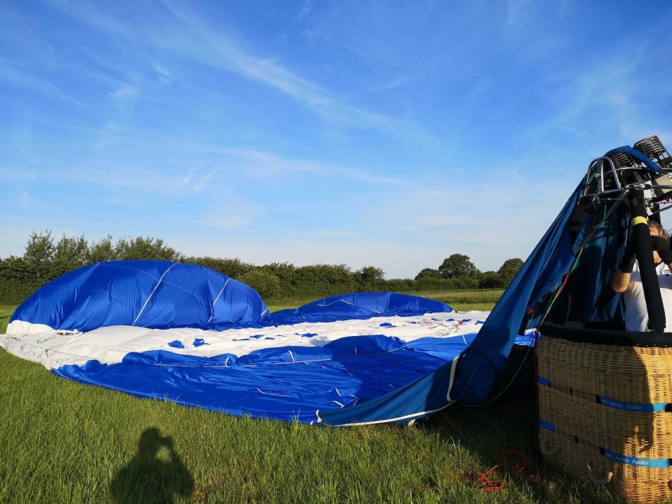 Der Apollo-Ballon nach der Landung