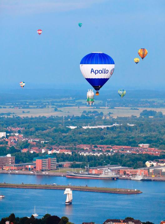 Kiel aus der Ballonperspektive