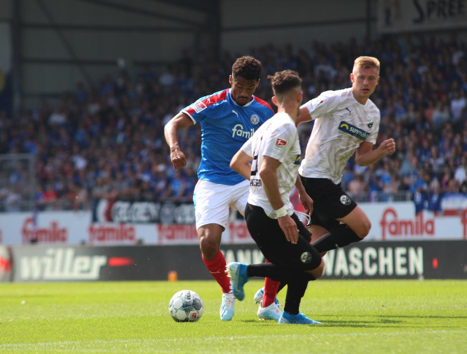 Emmanuel Iyoha kam beim Saisonauftakt gegen den SV Sandhausen zum Einsatz – und traf direkt zum Ausgleich.