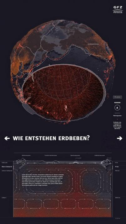"""Auf dem dynamischen Multitouch-Display werden naturwissenschaftliche Inhalte für die """"Generation Touchscreen!"""" anschaulich erklärt"""
