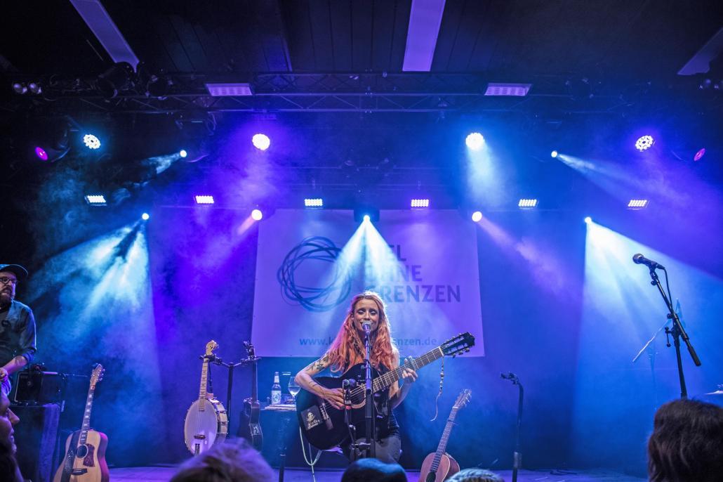 2018 begeistere Sarah Lesch mit ihrem Auftritt bei Kiel ohne Grenzen in der Pumpe