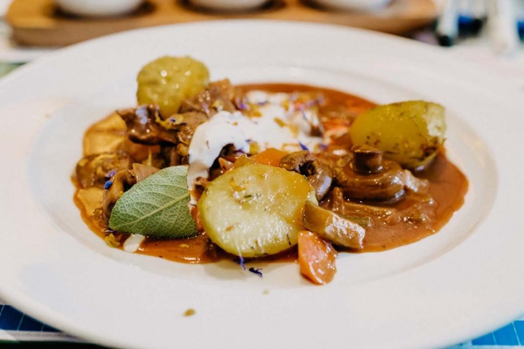 Kulinarisches Highlight: Der leckere Hauptgang von James & the Cook