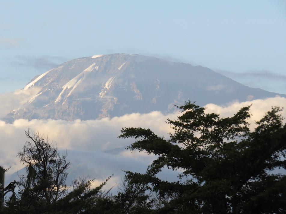 Weitsicht: Am Fuße des Kilimandscharo durfte Bettina Frommann Aufklärungsarbeit und Hilfe zur Selbsthilfe im Auftrag des SES leisten