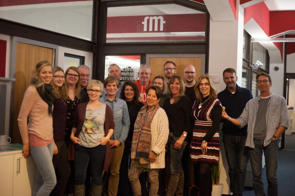 Die Kollegen der ehemaligen Verlagskontors Schleswig-Holstein GmbH freuen sich auf die Zusammenarbeit und den neuen Arbeitsplatz in Kiel