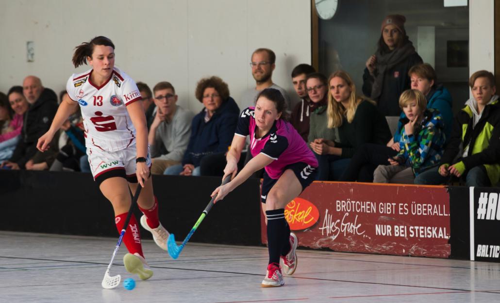 Elisabeth Hörning (#5) erzielte das fünfte und letzte Tor für die Förde Deerns am Sonntagnachmittag
