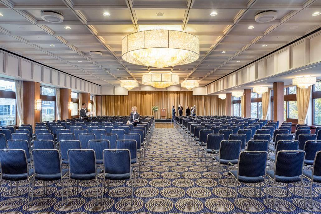 Der größte Tagungsaal aller Kieler Hotels bietet Platz für bis zu 550 Personen