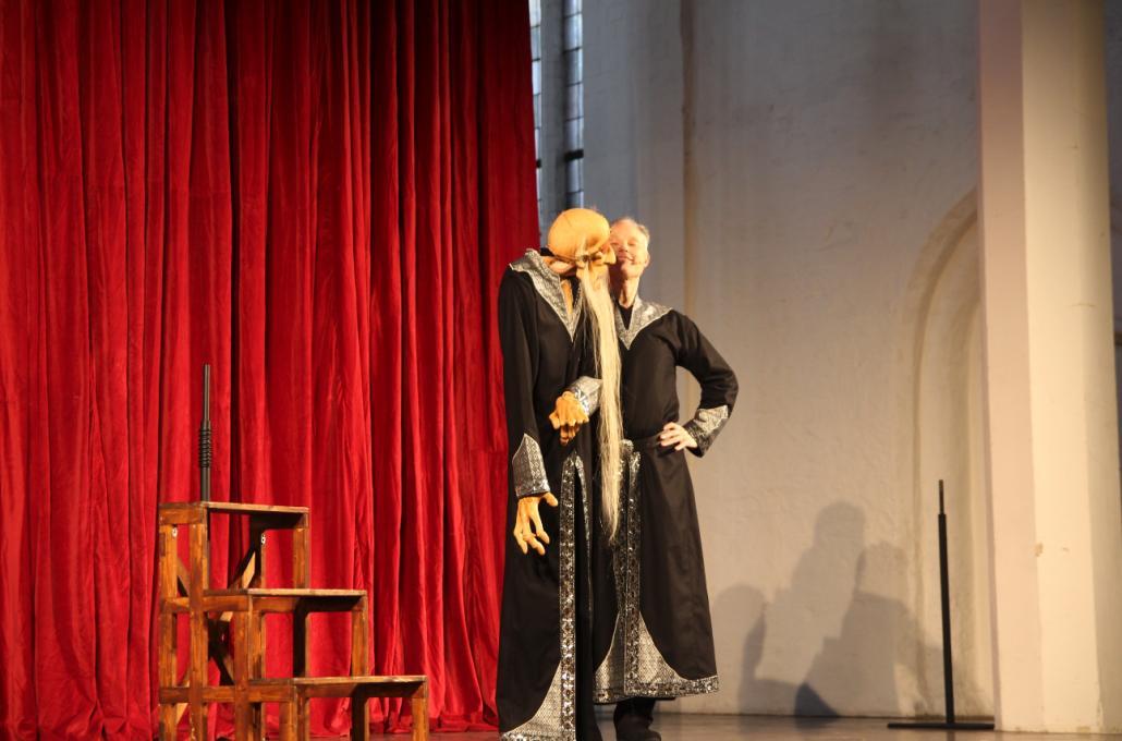 """Marc Schnittger führte das Stück """"Ich, Johann"""" mit seinen Puppen auf"""