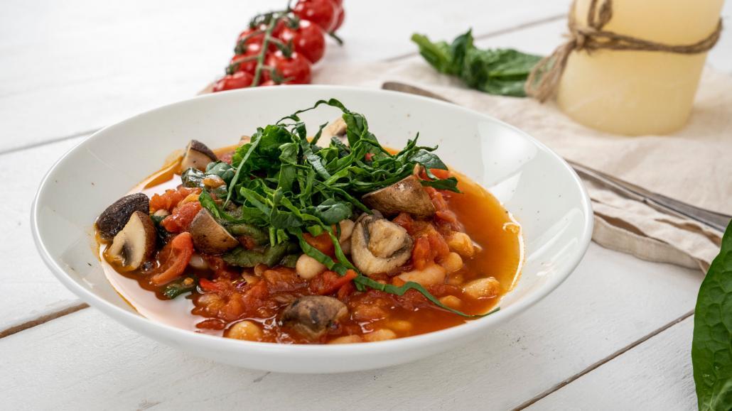 Spinat-Bohnen-Eintopf