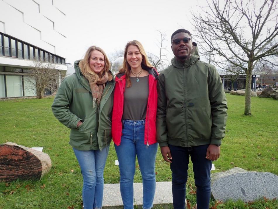Lily, Copping, Rebecca Klant, und Christian O Amoako (v. li.) sind Küstenhelden und engagieren sich für mehr Zusammenhalt sowie den kulturellen Austausch unter Kielern