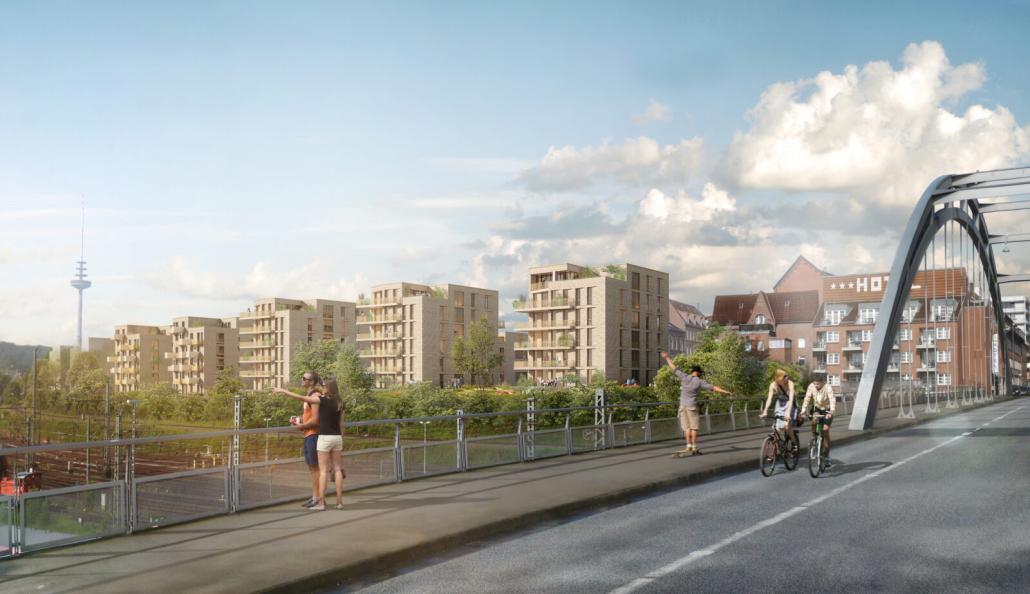 So könnte Marthas Insel Ende2022 von der Gablenzbrücke aussehen