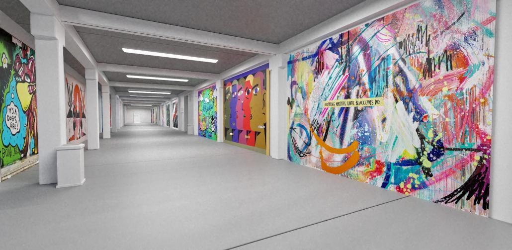 Die virtuelle Ausstellung zeigt Kunst in den Katakomben des Millerntor-Stadions