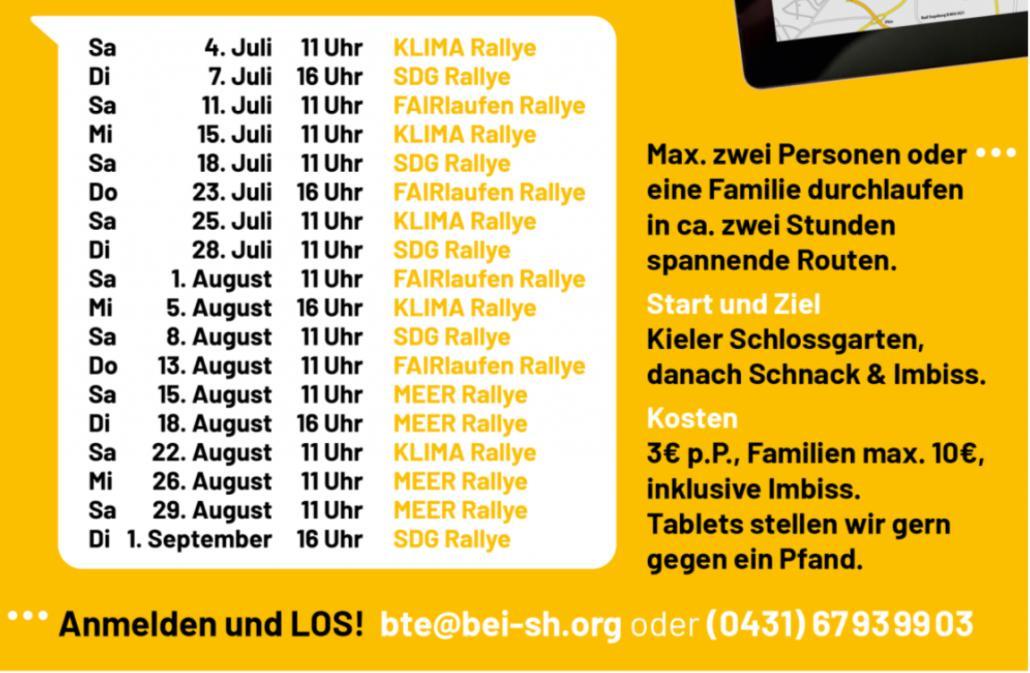 Das sind alle Termine der Kieler Themen-Rallyes