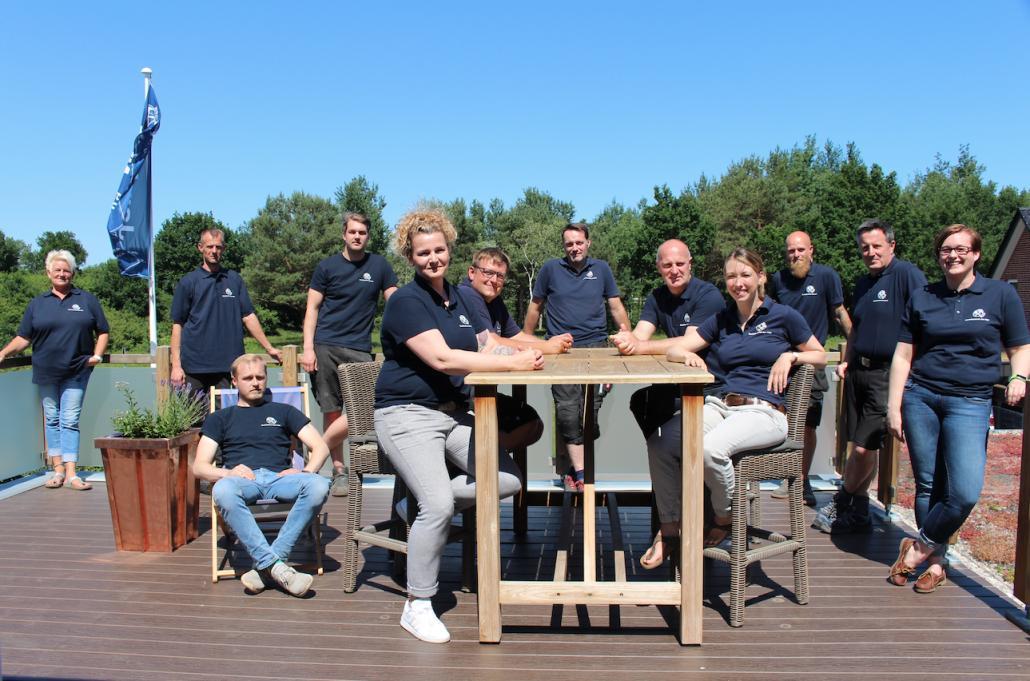 Das Team der Dachdeckerei Jan Witt hinter den Kulissen