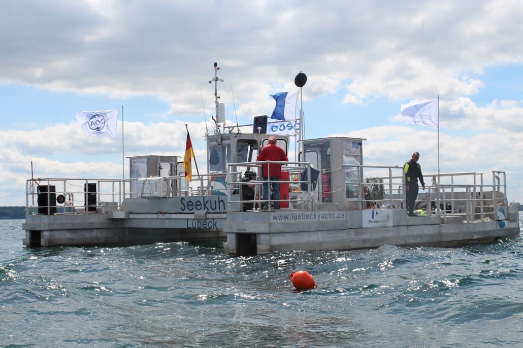 Die Umweltschützer von One Earth – One Ocean nutzen die SeeKuh, um Müll aus der Ostsee zu bergen
