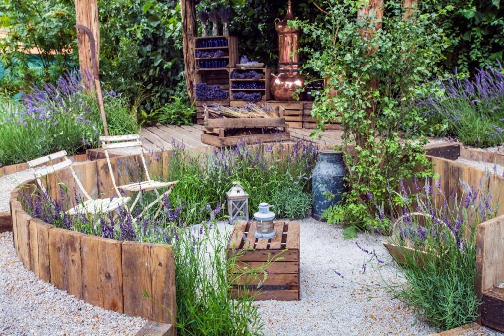 Lavendel und Kies: Typisch für französische Gärten?