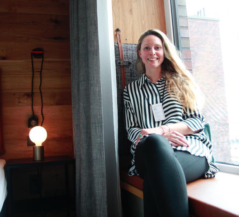 Hotel-Managerin Lina Wolf passt als waschechte Kielerin in das lokale Gesamtkonzept des Hotels