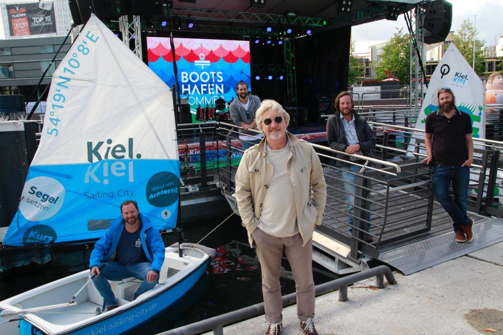 Johannes Hesse (Leiter Stadt- und Citymanagement bei Kiel-Marketing e.V.), Nicolas Grimm (Programmleitung BHS) , Uwe Wanger (Geschäftsführer von Kiel-Marketing), Christian Willer (Geschäftsführer Anton Willer) und Jonathan Hartmann (Camp 24/7)...