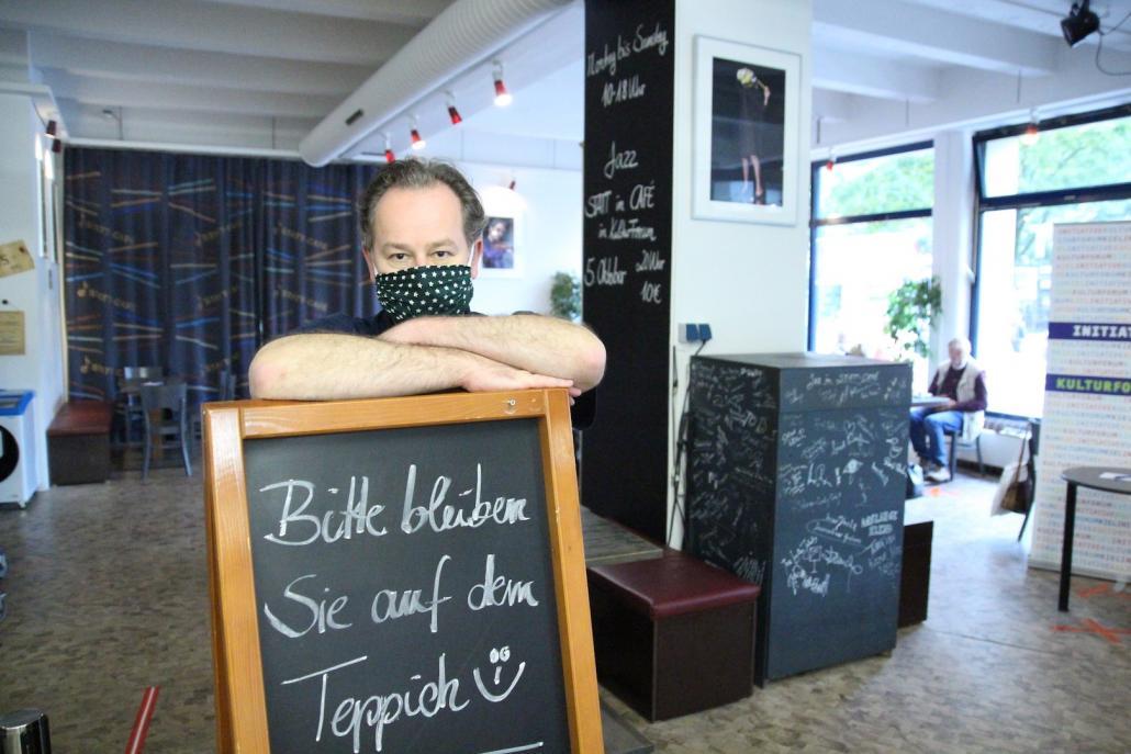 Frank Müller, Betreiber des Statt-Cafés