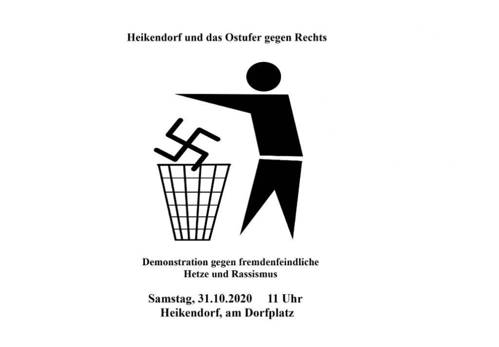 Demo gegen Rechts in Gaarden und Heikendorf