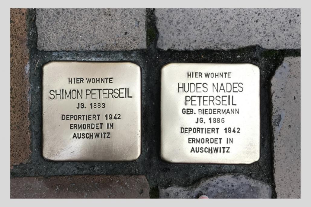 Stolpersteine in der Kieler Schaßstraße