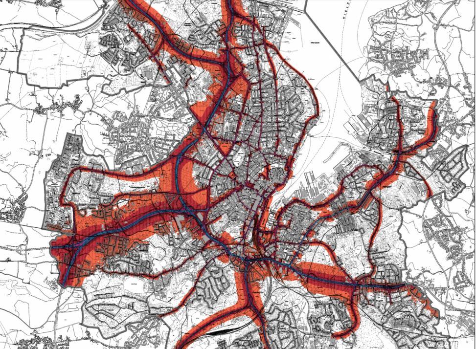 Im Ballungsraum Kiel will die Stadt für Lärmminderung sorgen.