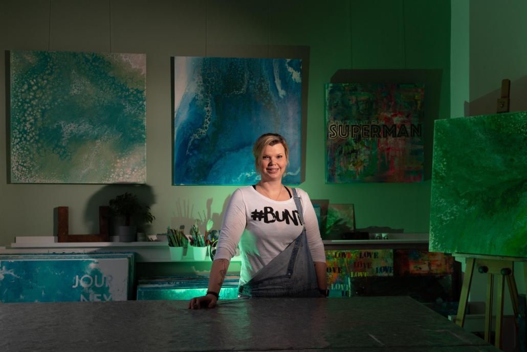 Diane Gumz vom Atelier Buntes im Grünen wurde von Julia Petersen bereits abgelichtet.